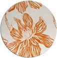 rug #510069 | round red-orange natural rug