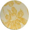 rug #510089 | round yellow rug