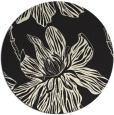 rug #510109 | round black graphic rug