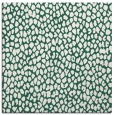 rug #510637 | square blue-green animal rug