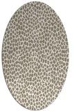 rug #510857 | oval white animal rug