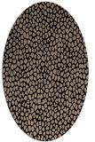 rug #510869   oval black rug