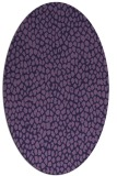 rug #510953 | oval purple rug
