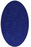 rug #510961 | oval blue-violet rug