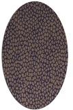 rug #510965 | oval blue-violet animal rug