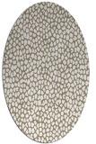 rug #510997 | oval white animal rug