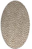 rug #511009 | oval mid-brown rug