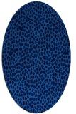 rug #511025 | oval blue animal rug
