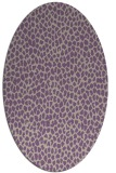 rug #511037 | oval purple animal rug