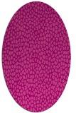 rug #511065   oval pink animal rug