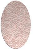 rug #511077   oval white animal rug