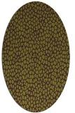 rug #511085 | oval green animal rug