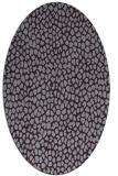 rug #511093 | oval purple animal rug
