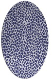 rug #511137 | oval blue animal rug