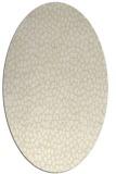 rug #511149 | oval yellow rug