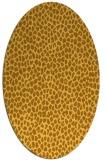 rug #511161 | oval light-orange animal rug
