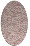 rug #511197   oval pink animal rug