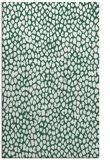 rug #511341 |  blue-green animal rug