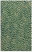 rug #511413    blue-green animal rug