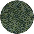 rug #511597 | round blue animal rug