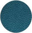 rug #511609   round blue-green animal rug