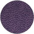 rug #511657 | round purple animal rug
