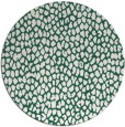 rug #511693 | round blue-green animal rug