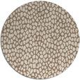 rug #511713 | round mid-brown popular rug