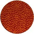 rug #511749 | round orange animal rug