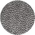 rug #511761 | round red-orange animal rug