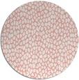 rug #511781 | round white animal rug