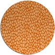 rug #511821 | round red-orange animal rug