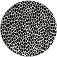 rug #511833 | round white animal rug