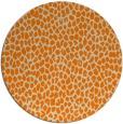 rug #511877 | round orange animal rug