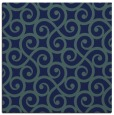 rug #512297 | square blue-green traditional rug