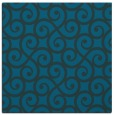 rug #512341 | square blue-green rug