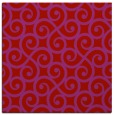 rug #512517 | square red traditional rug