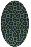 rug #512653 | oval blue rug