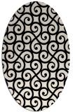 rug #512693 | oval blue-green popular rug
