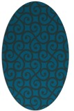 rug #512697 | oval blue traditional rug