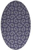 rug #512705 | oval blue-violet traditional rug