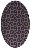 rug #512725 | oval beige traditional rug