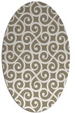 rug #512757 | oval white traditional rug
