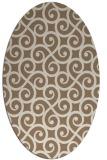 rug #512769 | oval beige traditional rug