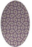 rug #512797 | oval purple rug