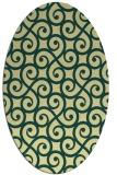 rug #512821 | oval yellow traditional rug