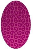 rug #512825 | oval pink traditional rug