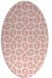 rug #512837 | oval white rug