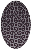 rug #512853 | oval purple traditional rug