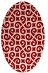 rug #512857 | oval red rug